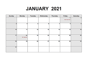Printable 2021 PDF Calendar Templates   CalendarLabs