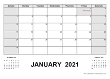 2021 Monthly Planner with Canada Holidays
