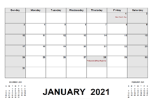 2021 Monthly Planner with Malaysia Holidays