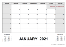 2021 Monthly Planner with New Zealand Holidays