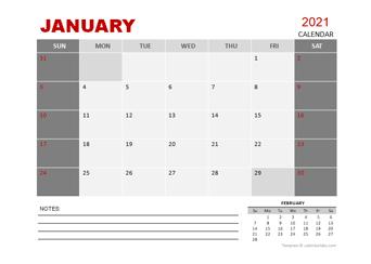 2021 Monthly Powerpoint Calendar