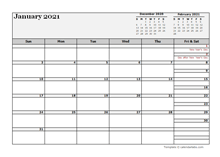 2021 New Zealand Calendar For Vacation Tracking