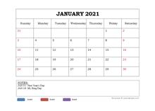 2021 Powerpoint Calendar Template