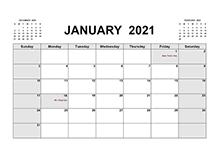 2021 printable calendar pdf
