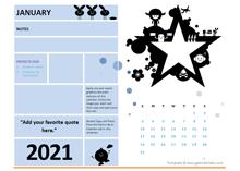 2021 Printable Student Calendar