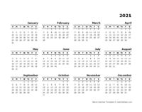 2021 Printable Yearly Design Calendar
