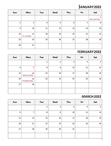 Printable 2021 Quarterly Calendar Templates   CalendarLabs