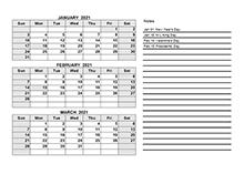 2021 quarterly calendar pdf