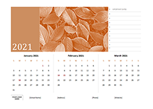2021 Quarterly Photo Calendar Word Template