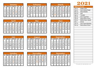 2021 Sikh Calendar – Sikh Religious Festival Calendar 2021
