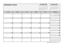2021 UAE Calendar For Vacation Tracking