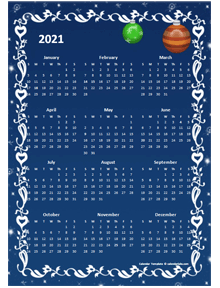 2021 yearly calendar design template