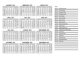 Printable 2021 Pdf Calendar Templates Calendarlabs
