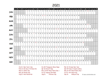 2021 Yearly Project Timeline Calendar Malaysia