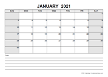 Blank February 2021 Calendar PDF