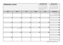 February 2021 Planner Template