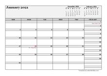 February 2021 Planner Template