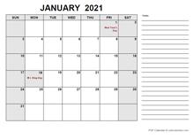 Free Printable February 2021 Calendar PDF