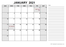 Free Printable November 2021 Calendar PDF