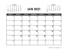 November 2021 Calendar Free Printable