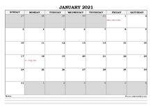 November 2021 Planner Excel