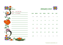 October 2021 Calendar Dates