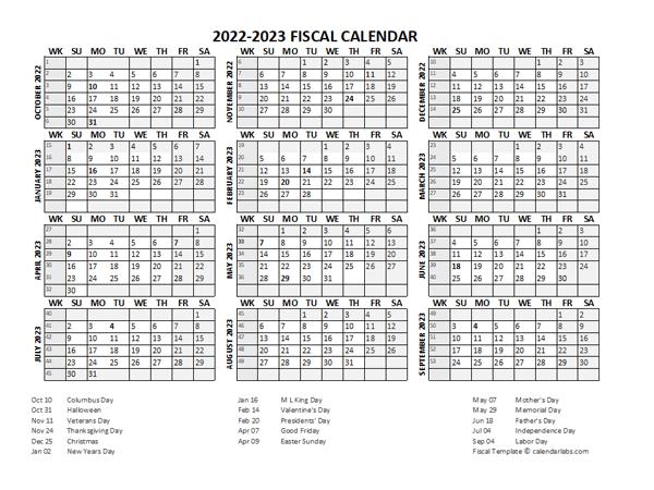 Monthly Calendar 2022 2023.Fiscal Calendar 2022 2023 Templates Free Printable Templates
