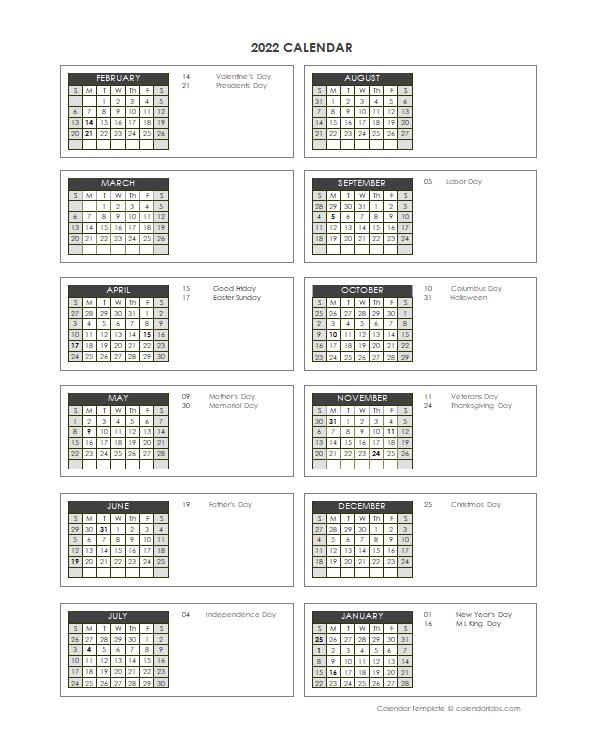 2022 Accounting Close Calendar 4-4-5