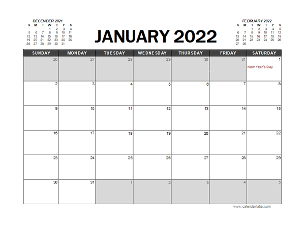 2022 Calendar Planner New Zealand Excel