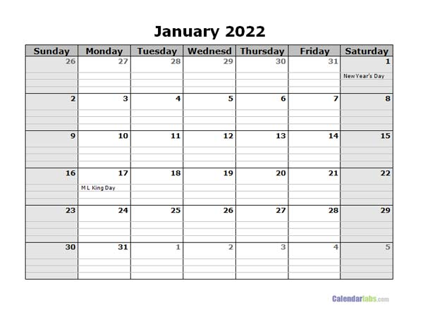 Free 2022 Daily Planner Word Template