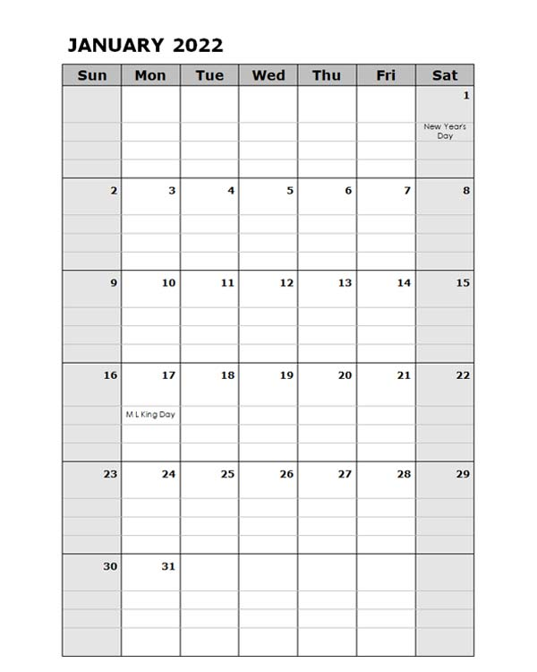 2022 Daily Planner Microsoft Word Template