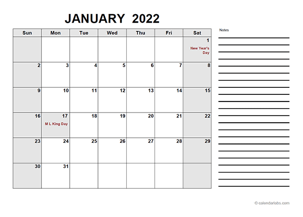 Calendar Lab 2022.2022 Free Calendar Pdf Free Printable Templates