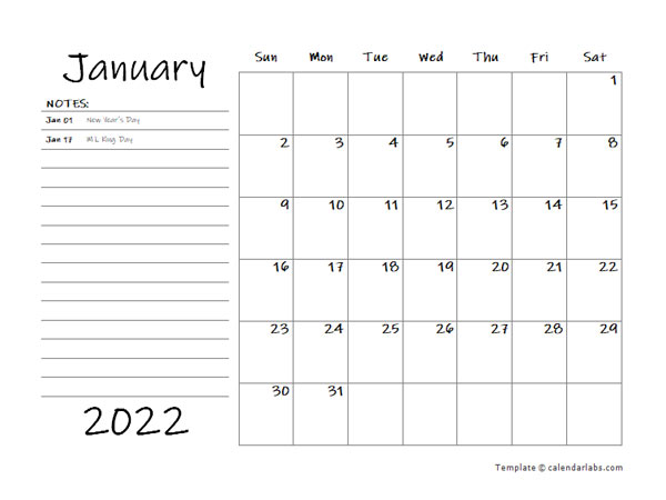 2022 Monthly Schedule Word Template