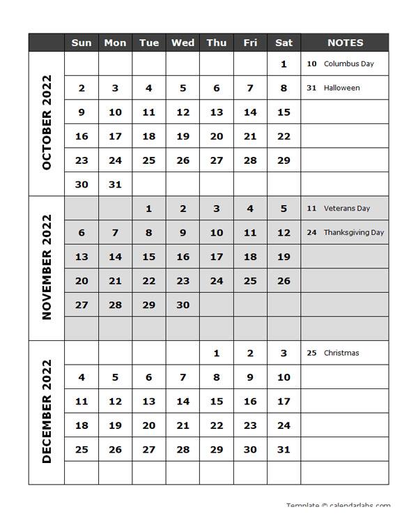 2022 Events Calendar.2022 Quarterly Events Calendar Word Template Free Printable Templates