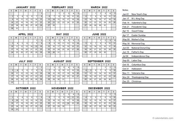 Julian Calendar 2022 Pdf.2022 Yearly Calendar Pdf Free Printable Templates
