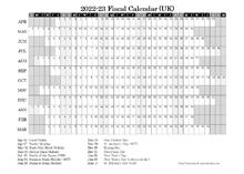 2022 Fiscal Calendar Year