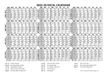 2022 Fiscal Calendar Template Starts At April