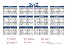2022 Accounting Calendar 4-5-4