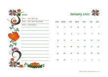 2022 Australia Calendar Free Printable Template