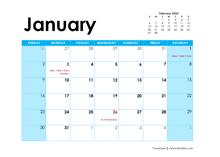 2022 Australia Monthly Calendar Colorful Design