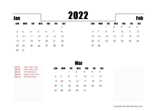 2022 Australia Quarterly Planner Template