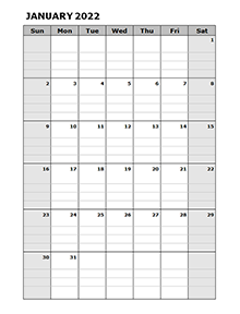 2022 Blank Daily Planner
