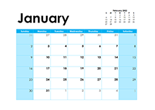 2022 Blank Calendar Colorful Design