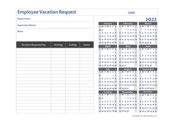 2022 Business Employee Vacation Request