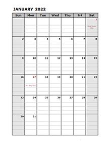 2022 Daily Planner Calendar Template