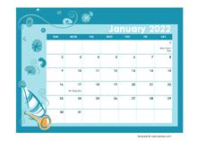 2022 Calendar Template In Colorful Design