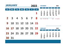 2022 Excel Calendar With Holidays