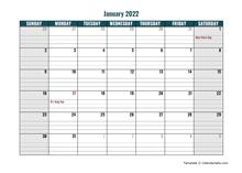 2022 Google Docs Daily Planner