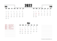 2022 Hong Kong Quarterly Planner Template