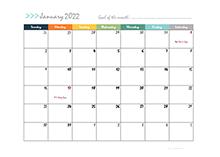 2022 calendar template design boxes